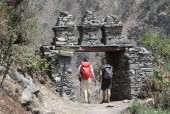 Chorten gate seen at beginning and  at end the village in Manaslu Circuit.JPG